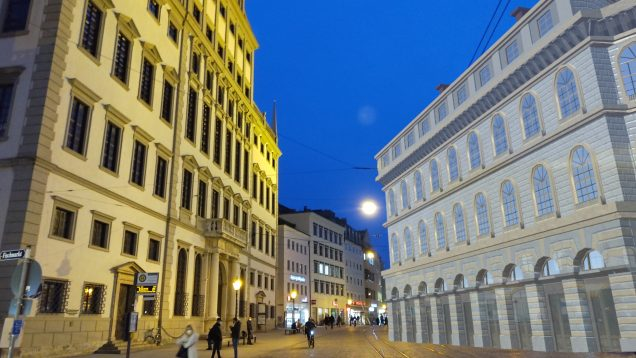Hologramm der Augsburger Börse
